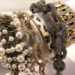 J. Crew Pave Link & Misc Bracelets $25/per